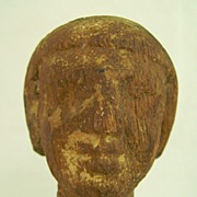 Egyptian Wooden Male Head circa 2061-1784 BC