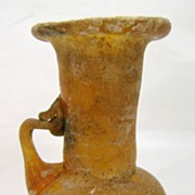 Ancient Roman Blown Amber Glass Jug or Pitcher