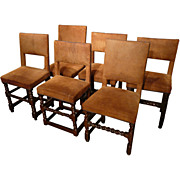 18th/19th c.Set of Six Cromwellian Style Chairs