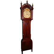 19th c. James Collins 8-Day Mahogany Tall Case Clock
