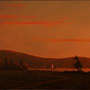 "William R. Davis Oil Painting ""Inner Marsh, Boothbay, Maine"""