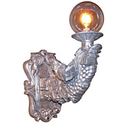 Aluminum Bird & Grapes Sconce
