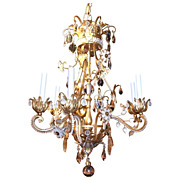 Bagues style Crystal and Gilded Chandelier