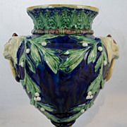 19th c. European Etruscan-style Majolica Urn