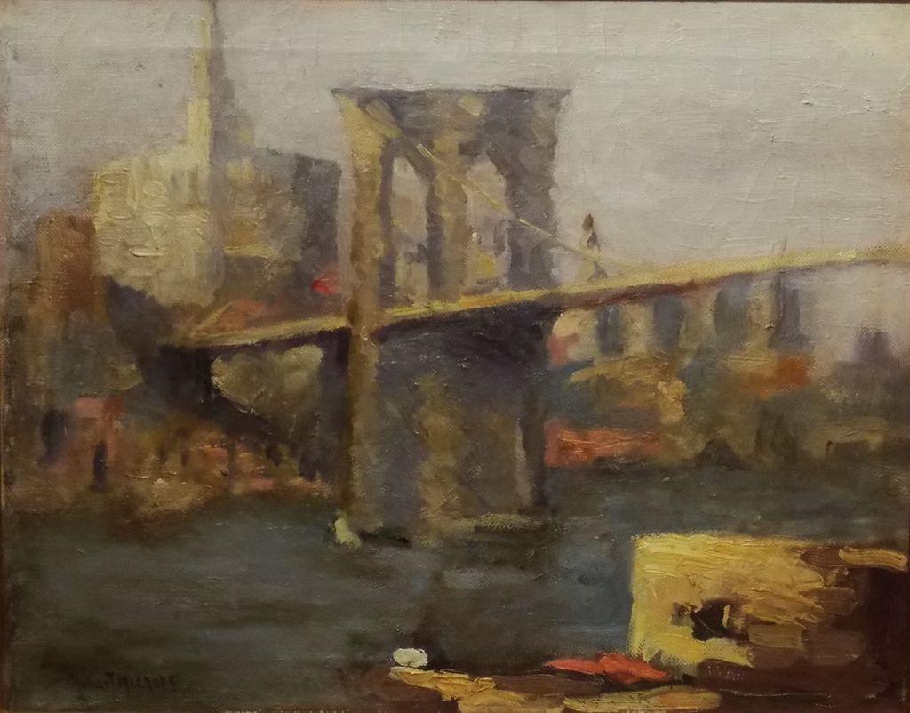 New York Painting Bridge Brooklyn Bridge New York