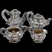 SOLD English Sterling Silver Coffee & Tea Service circa 1832