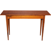 Jason Samuel Bench Made Tiger Maple Hall Table in the Country Hepplewhite style