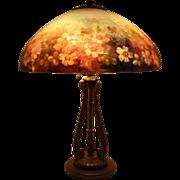 "SALE PENDING Handel 6688 18"" Floral Table Lamp"