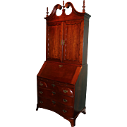 18th century  Chippendale cherrywood desk and bookcase or secretary