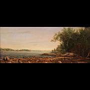 Lauren Sansaricq Oil Painting Little Harbor, Rye, NH