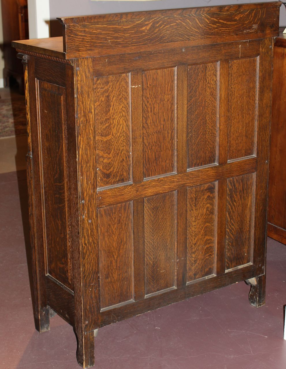 Early 20th C American Cabinet Company Oak Dental Cabinet From