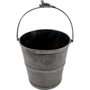 SOLD 19th c Reed & Barton Silver Plate Champagne Bucket with Fox Motif