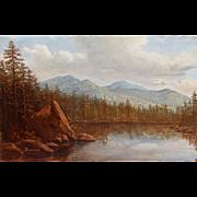 Lauren Sansaricq Oil Painting Lost Pond View of Mount Washington NH