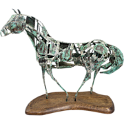 Danny L. Dancer Hammered Copper Sculpture of a Horse