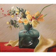 Jean G. Lightman Pastel Painting Floral Still Life