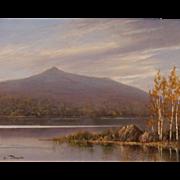 William R. Davis White Mountain Oil Painting Chocorua Reflections