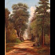 Benjamin Crackbone Champney Oil Painting Landscape Road Through the Woods