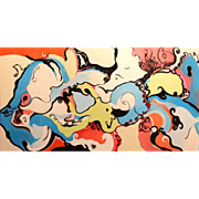 Roz Park Modernist Abstract Oil Painting