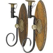 SOLD Pair of Single Light Sconces Fashioned from Bayonets