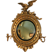 SOLD Horace Greeley Giltwood Federal Girandole Mirror, Probably New York