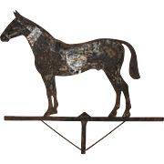 SOLD 19th Century Iron Sheet Weathervane of a Horse with Traces of Paint