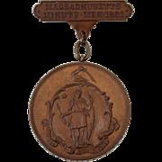 Civil War Bronze Medal Joseph N. Berry Mass 4th Infantry Regiment Company I