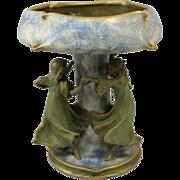 Early 20th c Amphora Art Nouveau Figural Centerpiece Vase