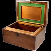 Alfred Dunhill of London Mahogany Gentlemen's Cigar Humidor with Copper & Felt Interior