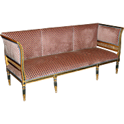 Gustavian Period Neoclassical Giltwood & Polychrome Sofa circa 1800 Sweden