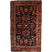 Blue Lillihan Scatter Rug or Carpet circa 1930