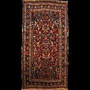 Kashkuli Scatter Rug or Carpet circa 1930