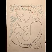Pablo Ruiz Picasso 1963 Print Mother and Child / Le Grande Maternite
