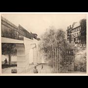 Peter Milton Signed Surreal Print - Julia Passing 65/100, 1967