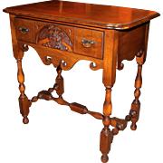 """Berkey & Gay """"Old Ironsides"""" One Drawer Table from Wood on the USS Constitution"""