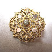 REDUCED Antique French Pin Brooch NAPOLEON III 19th C Century DIVINE!