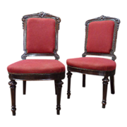 SALE Pair of 19th Century French Antique Side Chairs