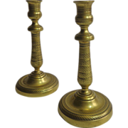SALE Pair of 19th Century French Antique Candleholders