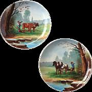 Pair of Vintage Dutch Hand Painted Decorative Plates