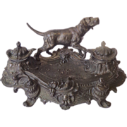SOLD 19th Century French Antique Rococo Style Inkpot
