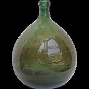 SOLD French Antique Glass Demijohn Bonbonne