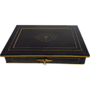 SALE 19th Century French Antique Ebony Box