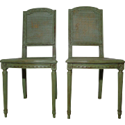 SALE Pair of Antique French Louis XVI Style Side Chairs