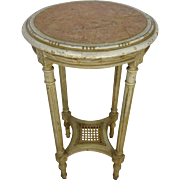 SALE 19th Century Antique French Louis XVI Style Round Side Table Gueridon