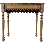 SALE 19th Century Antique French Napoleon III Beech Console Table