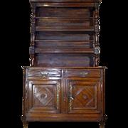 SALE 18th Century Antique French Louis XVI Period Chestnut Buffet 2 Corps Vaisselier
