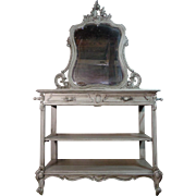 SALE 19th Century Antique French Rococo Style Vanity
