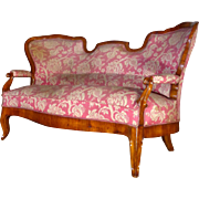 19th Century Antique Biedermeier Period Cherry Sofa