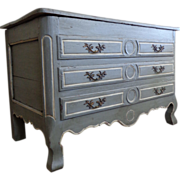 SALE 18th Century Antique French Louis XV Period Faux Commode Trunk