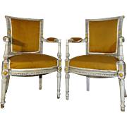 SALE Pair of 19th Century Antique French Directoire Style Armchairs