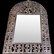 SALE 19th Century Antique Spanish Wrought Iron Mirror